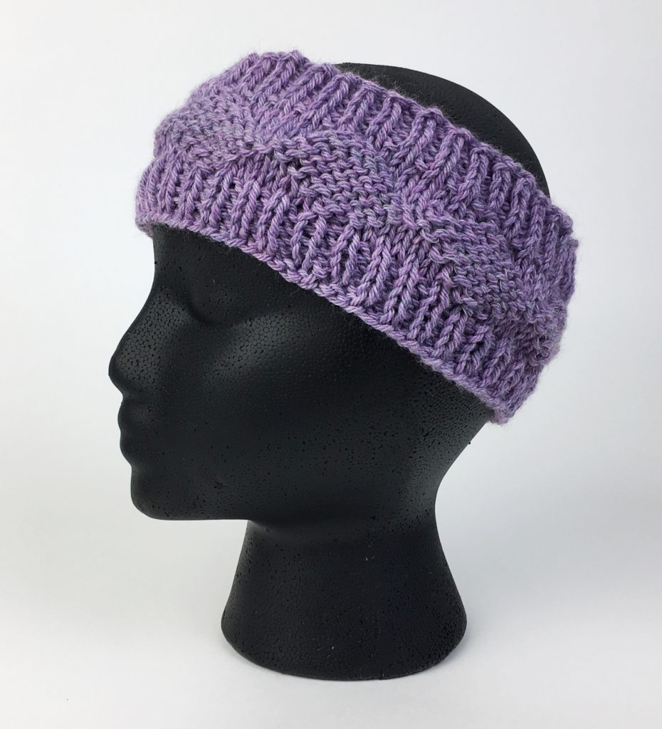 Reflective Diamonds Ear Warmer - Free Knit Pattern - Hooked for Life