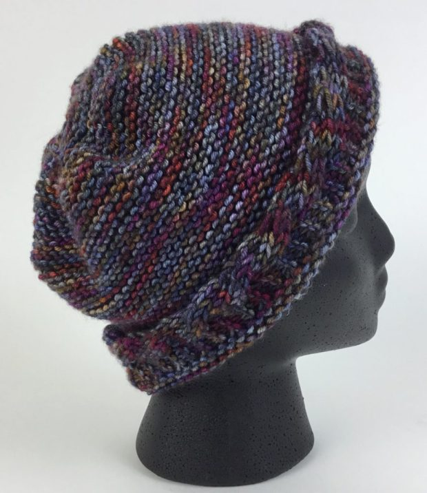 Free Knit Pattern Reversible Cable Brim Hat Hooked For Life