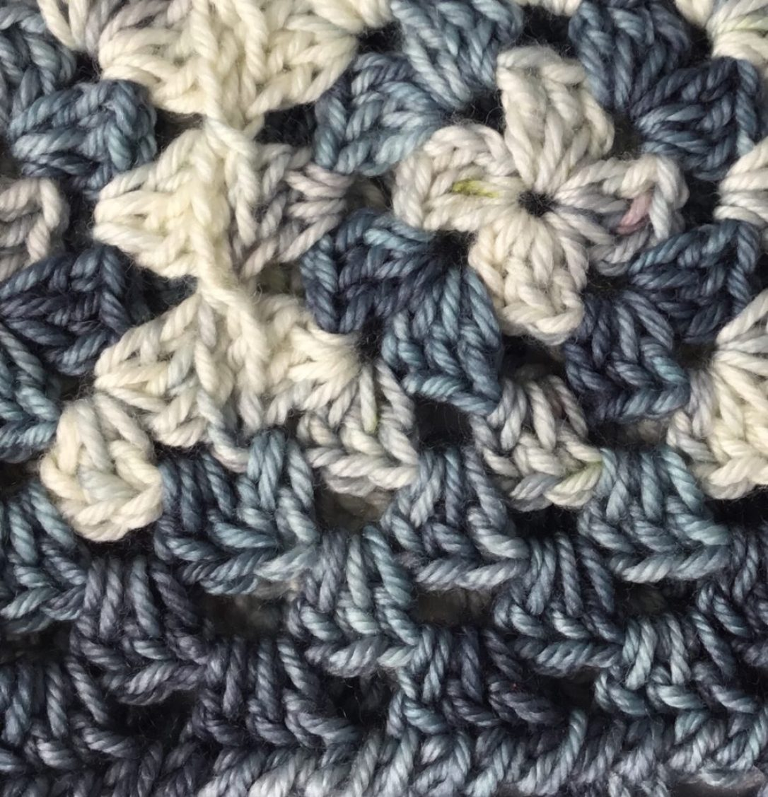 Close up Concentric Cowl from Hooked for Life Publishing (free pattern) in Mimi DK from Haute Boheme Fibers #freecrochetpattern
