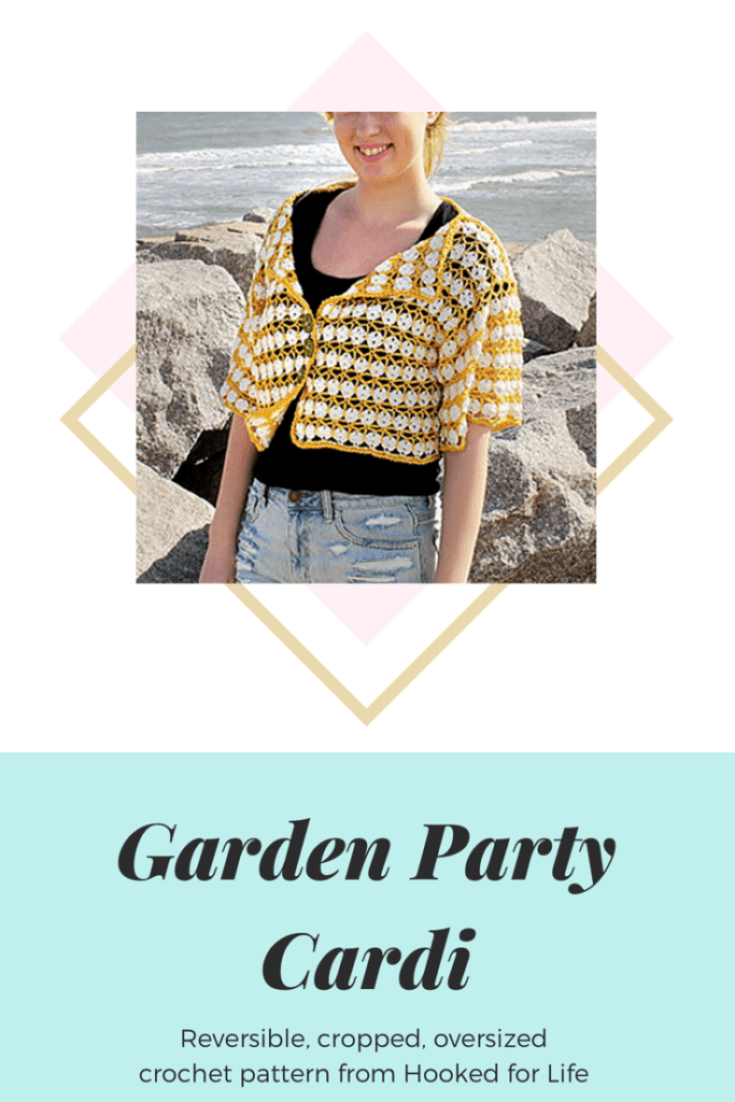 Crochet Lace Top Pattern (paid) Garden Party Cardi from Hooked for Life