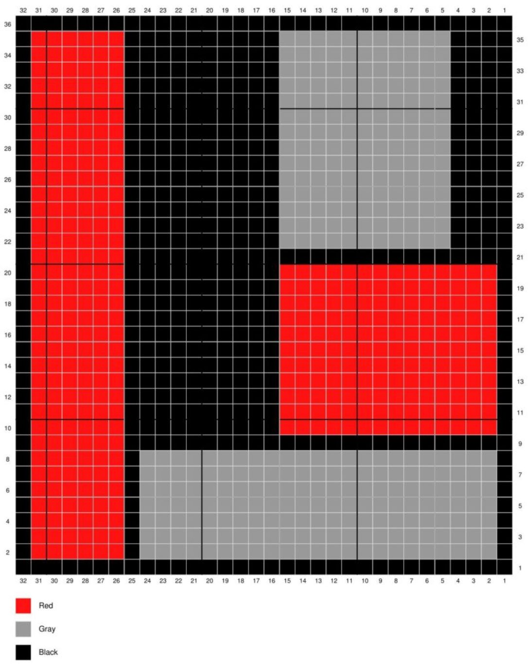 Stitch Diagram Color Block Washcloth from HookedforLifePublishing.com