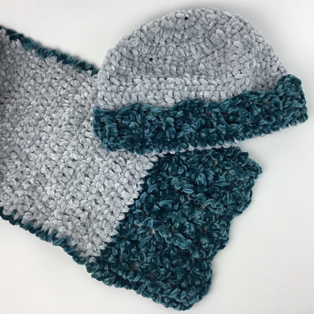 Victorian Velvet Hat and Scarf crochet pattern
