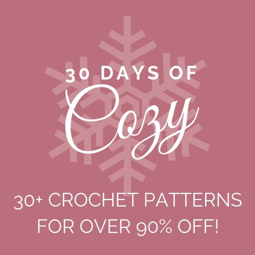 30 Days of Cozy Crochet Pattern Bundle at 90% off