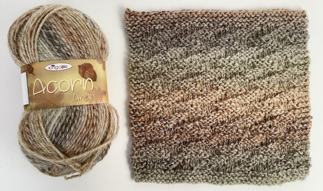 Woodfire Square to Knit Pattern plus King Cole Acorn Aran yarn