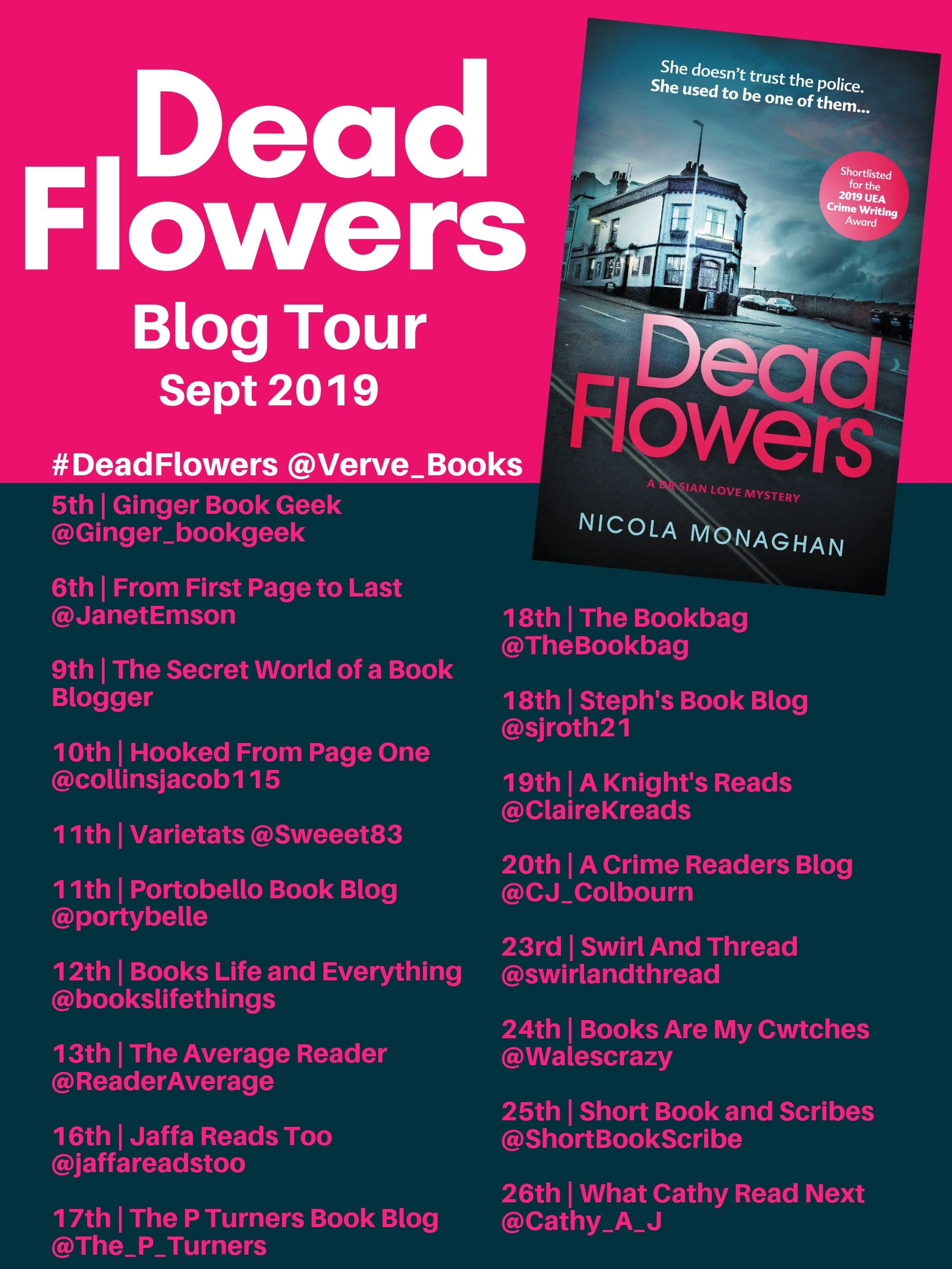 DEAD FLOWERS BLOG TOUR- CORRECTED