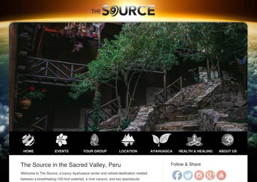The Source Peru – Ayahuasca Retreat Center Website Completion