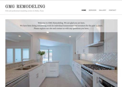 GMG Remodeling General Contractor Website Creation