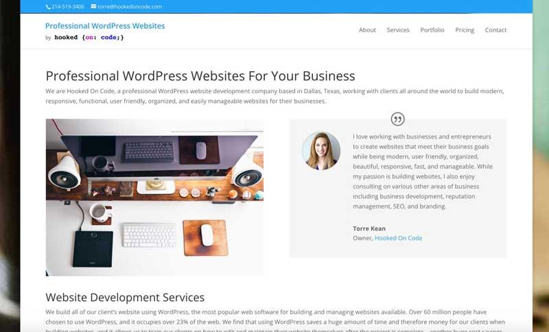 Most professional websites
