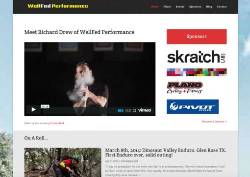 WellFed Performance – Professional Mountain Biker Website Redesign