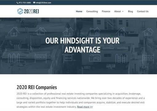 2020 REI Companies – Real Estate Investment Group Website Creation