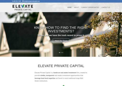 Elevate Private Capital – Private Equity Firm Website Creation