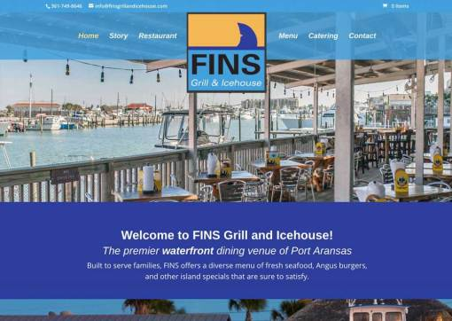 Fins Grill and Icehouse – Website Redesign