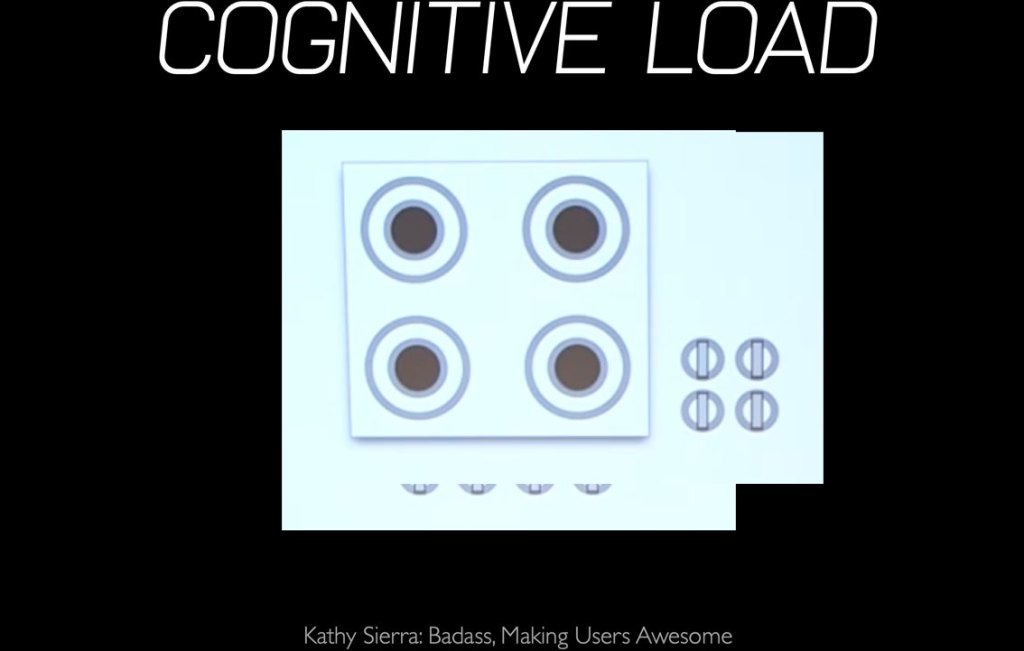 cognitive load example kathy sierra sarah drasner example
