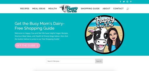 Happy Cow And Me | Website Redesign