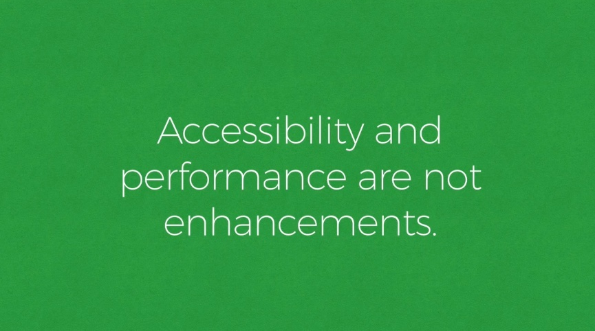 Performance Is Accessibility