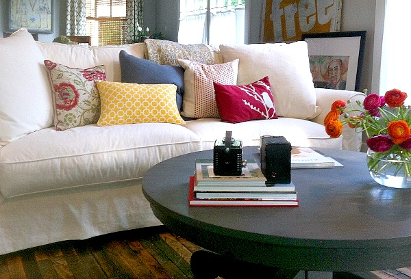 Amy's living room sofa