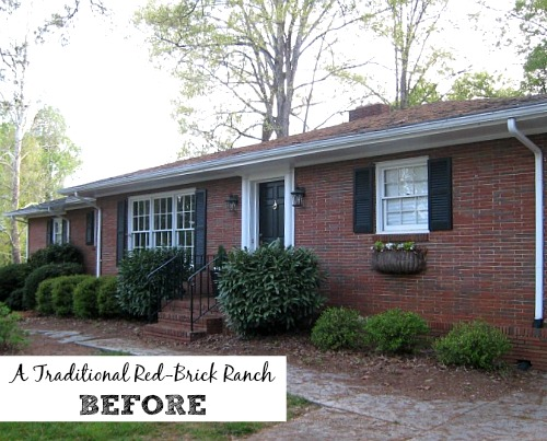 Giving a Basic Brick Ranch Curb Appeal  and More    Hooked on Houses The Painted House ranch BEFORE