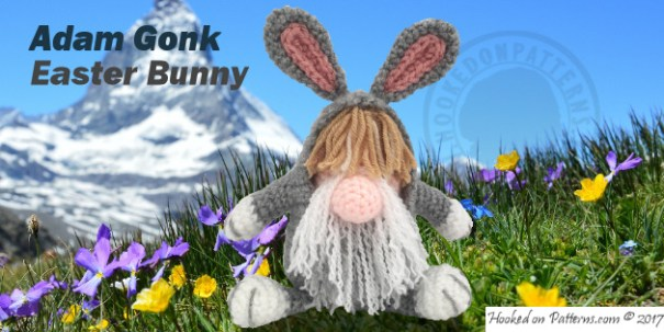 free crochet gonk Bunny