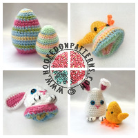 Christmas crochet patterns - Easter Crochet Pattern Bunny