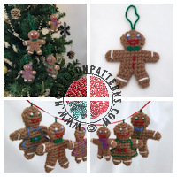 Free crochet patterns - Free Ginger bread man Crochet Pattern