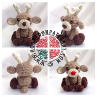 Christmas crochet patterns - Reindeer Crochet Pattern