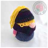 Free crochet doll patterns - Eve Gonk Messy Bun Hat Free Crochet Pattern