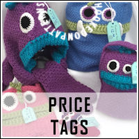 Free printable price tags from Hooked On Patterns