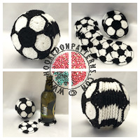 Crochet patterns for home - Soccer Football Coaster Crochet Pattern