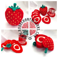 Strawberry Coaster Crochet Pattern