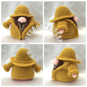 Fisherman gonk free crochet pattern