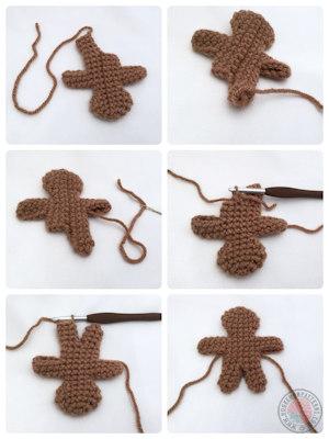 Gingerbread Man Free Crochet Pattern Hooked On Patterns