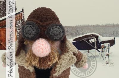 Pilot Gonk Crochet Pattern