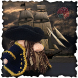 Becoming Santa Gonk free crochet patterns A Gonks Journey Pirate Scene