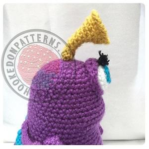 Free toy monster Amigurumi - Purple People Eater Crochet Pattern