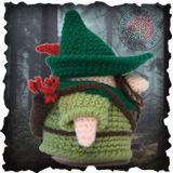Becoming Santa Gonk free crochet patterns - A Gonks Journey Robin Gonk Crochet Pattern