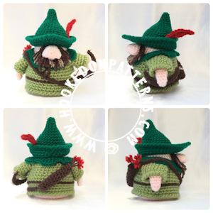 RobinHood Gonk Free Crochet Pattern