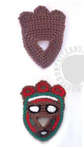 Tribal gonk free crochet pattern