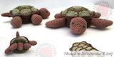 Turtle coasters crochet pattern