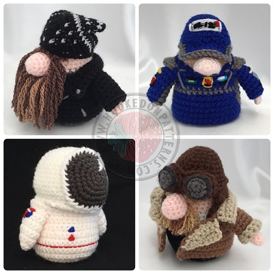 Transport Gonks Crochet Patterns Outfit Pack