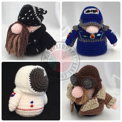 Transport Gonks Crochet Patterns Outfit Pack