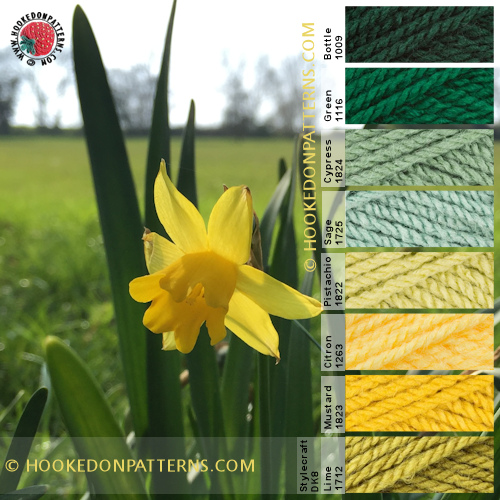 Yarn Colour Palette - Bright Flower