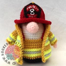 Fireman Free Crochet Pattern