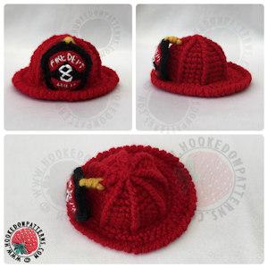 Fireman Free Crochet Pattern Helmet