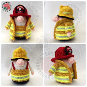 How to crochet a fireman outfit