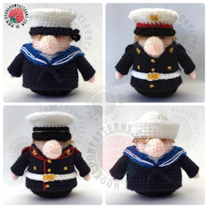 How to crochet a marine uniform