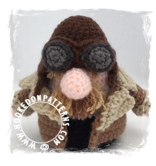 Top 5 Gonks - Pilot Gonk Crochet Pattern