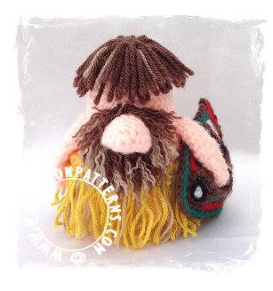 Top 5 Gonks - Tribal Crochet Pattern