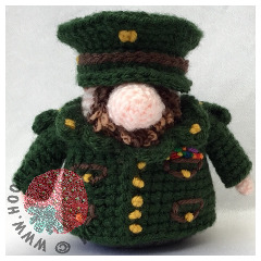 Army Doll Free Crochet Pattern