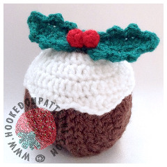Christmas Pudding Coaster Crochet Pattern