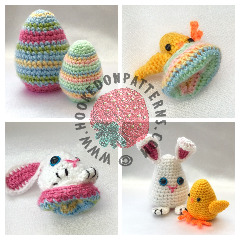 Easter Eggs Flips Crochet Pattern